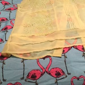 American Eagle Outfitters Tops - American Eagle sheer neon yellow large blouse